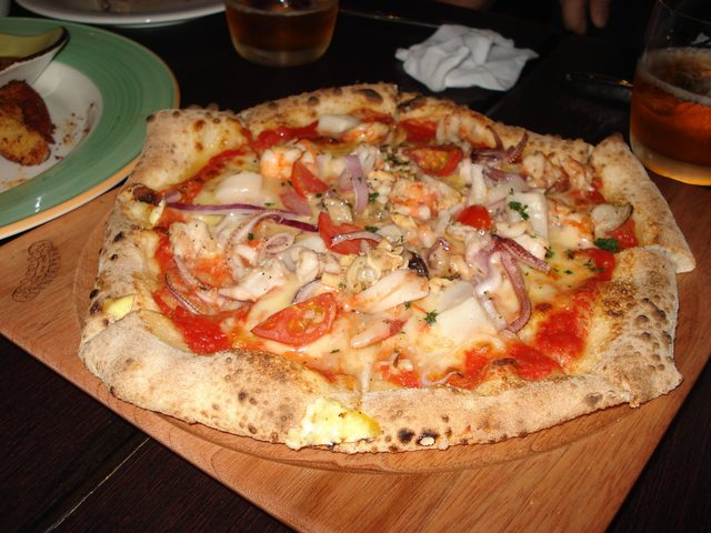 Seafood Pizza at Pasadena C3 Warehouse Restaurant