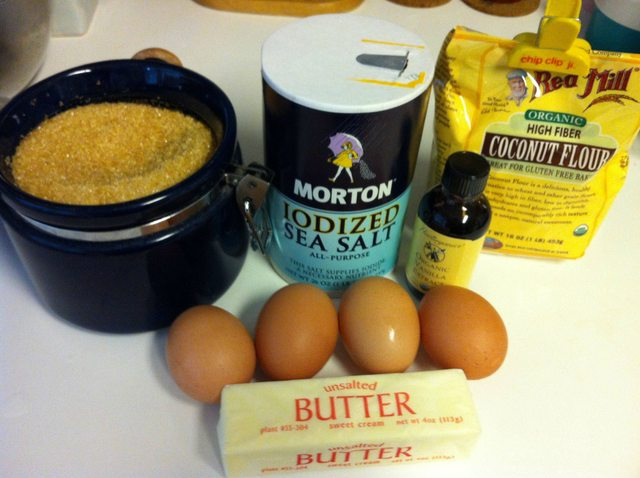 Ingredients for Vanilla Coconut Flour Cookies