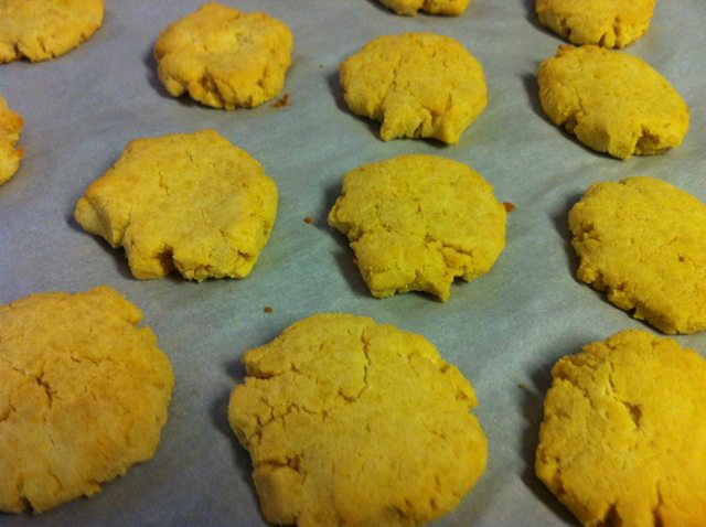 Right out of the oven Vanilla Coconut Flour Cookies