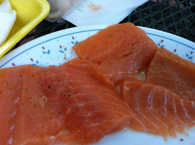 Salmon with Black Pepper for Homemade Hibachi