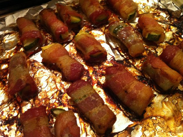 Bacon Wrapped Zucchini