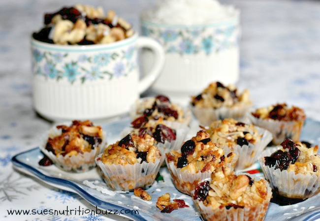 Sue's Nutrition Buzz:  Coconut Cranberry Honey Nut Cookies