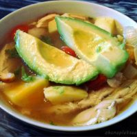 The Best Mexican Chicken Soup (with Avocado, Cherry Tomatoes, and Sweet Potatoes)