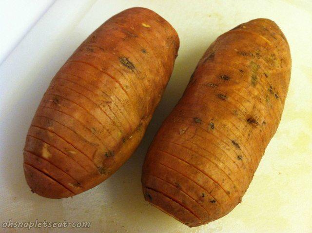 Sliced Up Sweet Potatoes