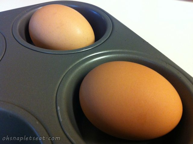 Baked Hard Boiled Eggs in Muffin Pan