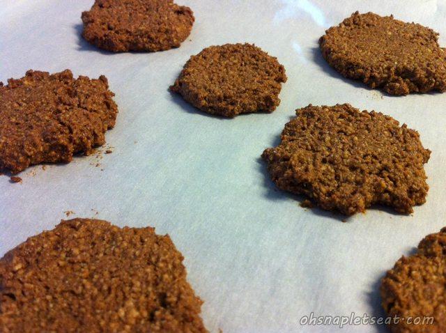 Flattened cookies