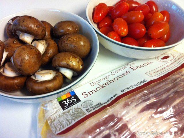 Ingredients for Baked Tomato Bites