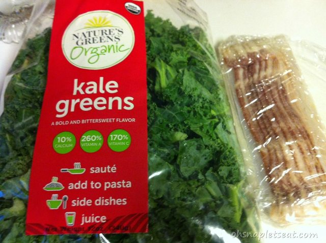 Ingredients for Chunky Bacon Kale Stir-Fry