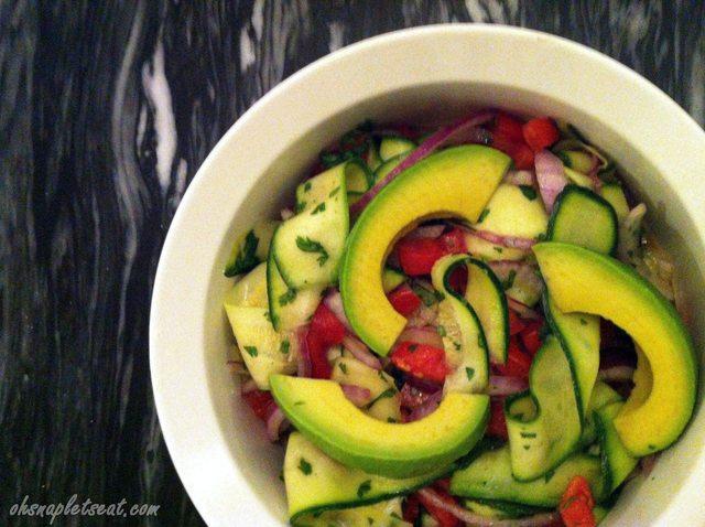 Zucchini Ribbon Salad with Avocado