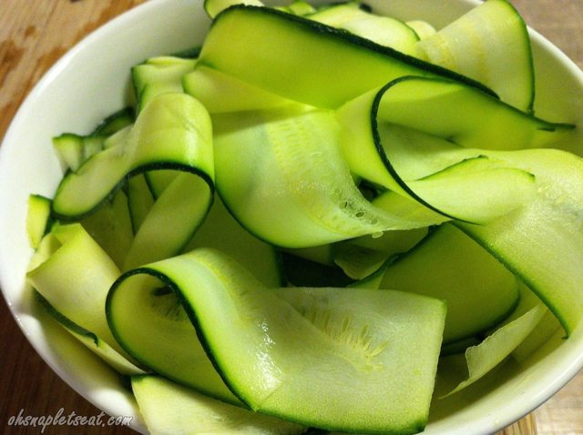 Zucchini Ribbon Salad with Avocado - Oh Snap! Let's Eat!