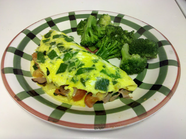omelet spinach paleo