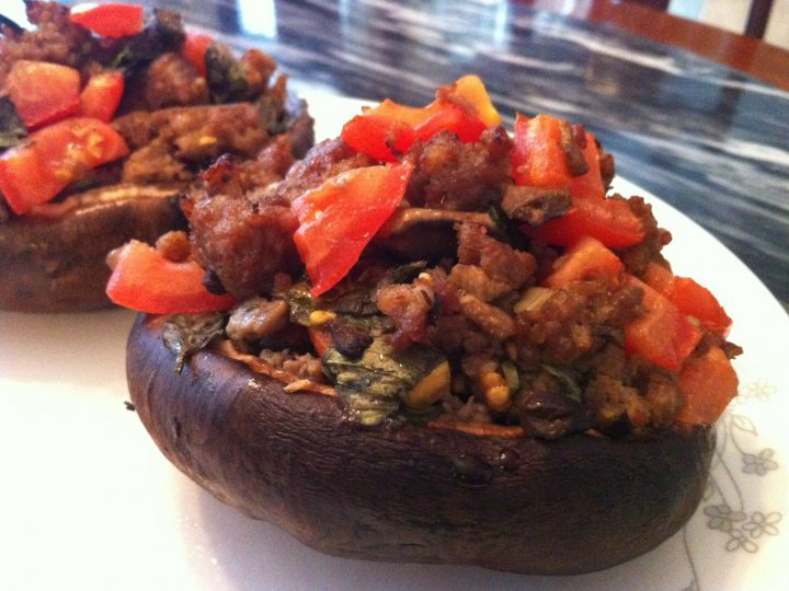Stuffed Mushroom with Tomato Basil and Sausage