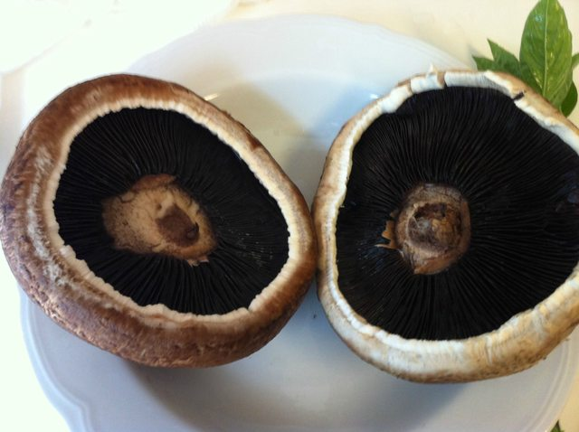 Tomato Basil Sausage Stuffed Portobello Mushrooms
