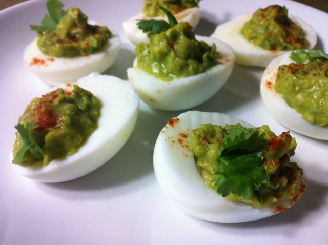 deviled eggs paleo avocado