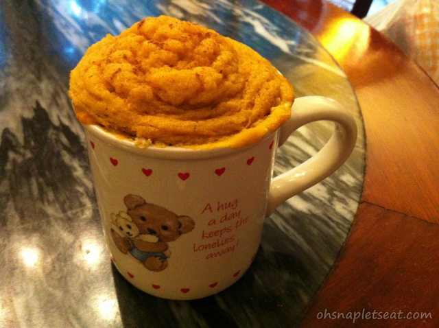 5 Minute Dessert: Paleo and Gluten Free Pumpkin Cake In A Cup