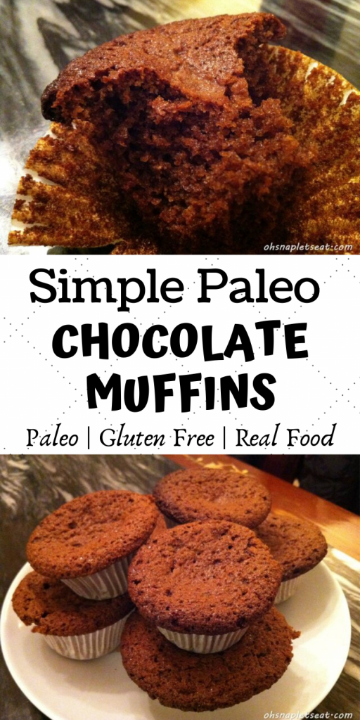Simple Paleo Chocolate Muffins