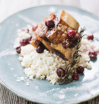 Cranberry Braised Short Ribs