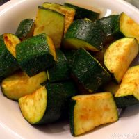 Simple Oven Baked Zucchini