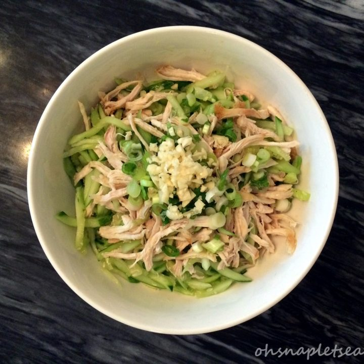 Chinese Shredded Chicken and Cucumber Salad