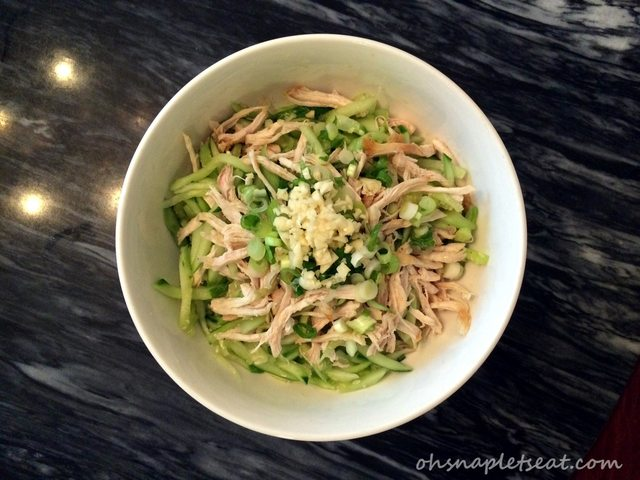Chinese Chicken and Cucumber Salad
