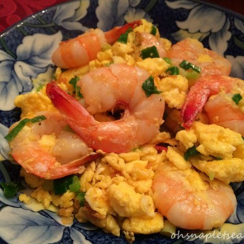 Chinese Stir Fry Shrimp with Eggs (蝦仁炒蛋)