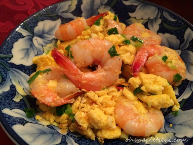 Chinese Stir Fry Shrimp with Eggs