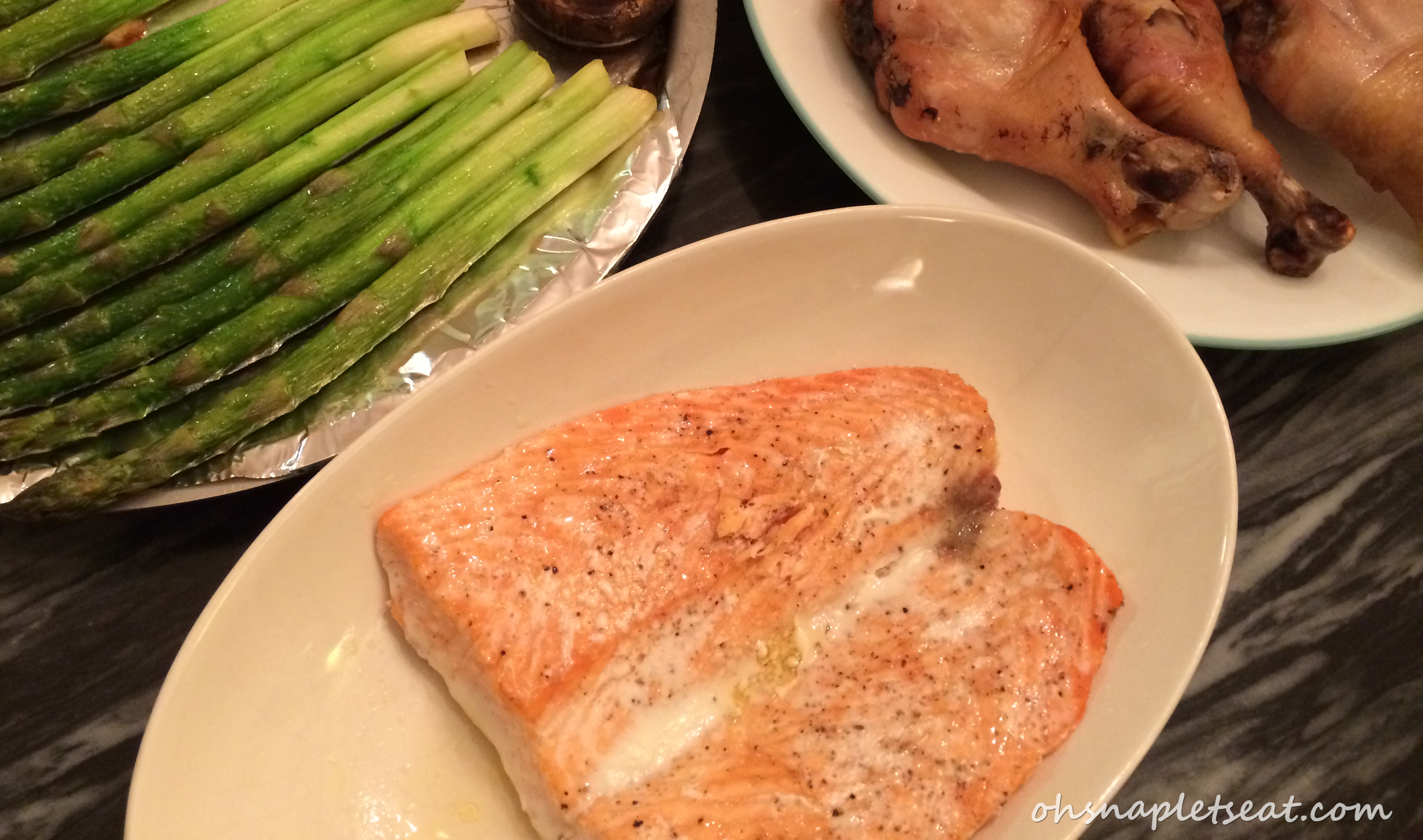 Oven Baked Salmon (A Super Easy Oven Baked Dinner Part I) | Oh Snap ...
