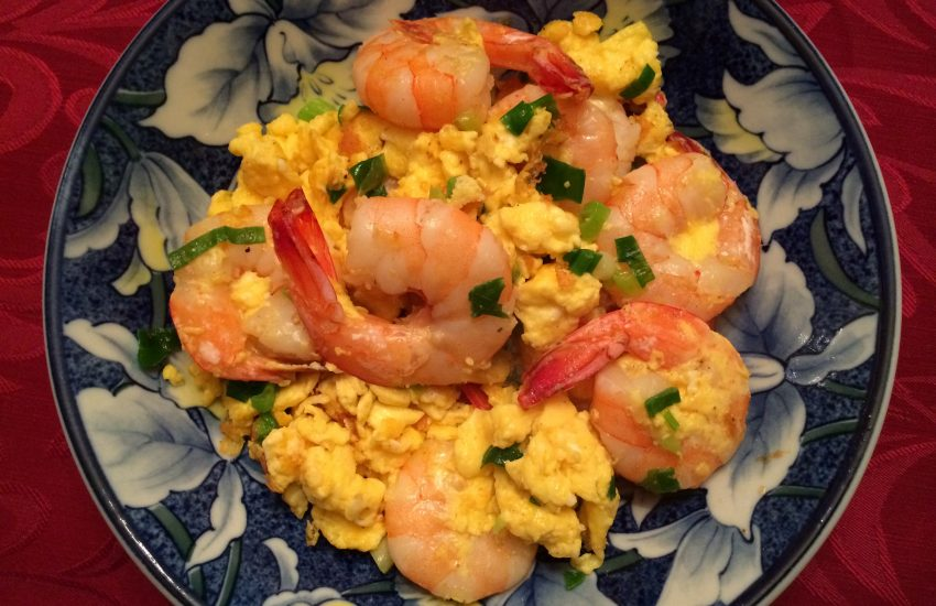 stir fry shrimp and eggs
