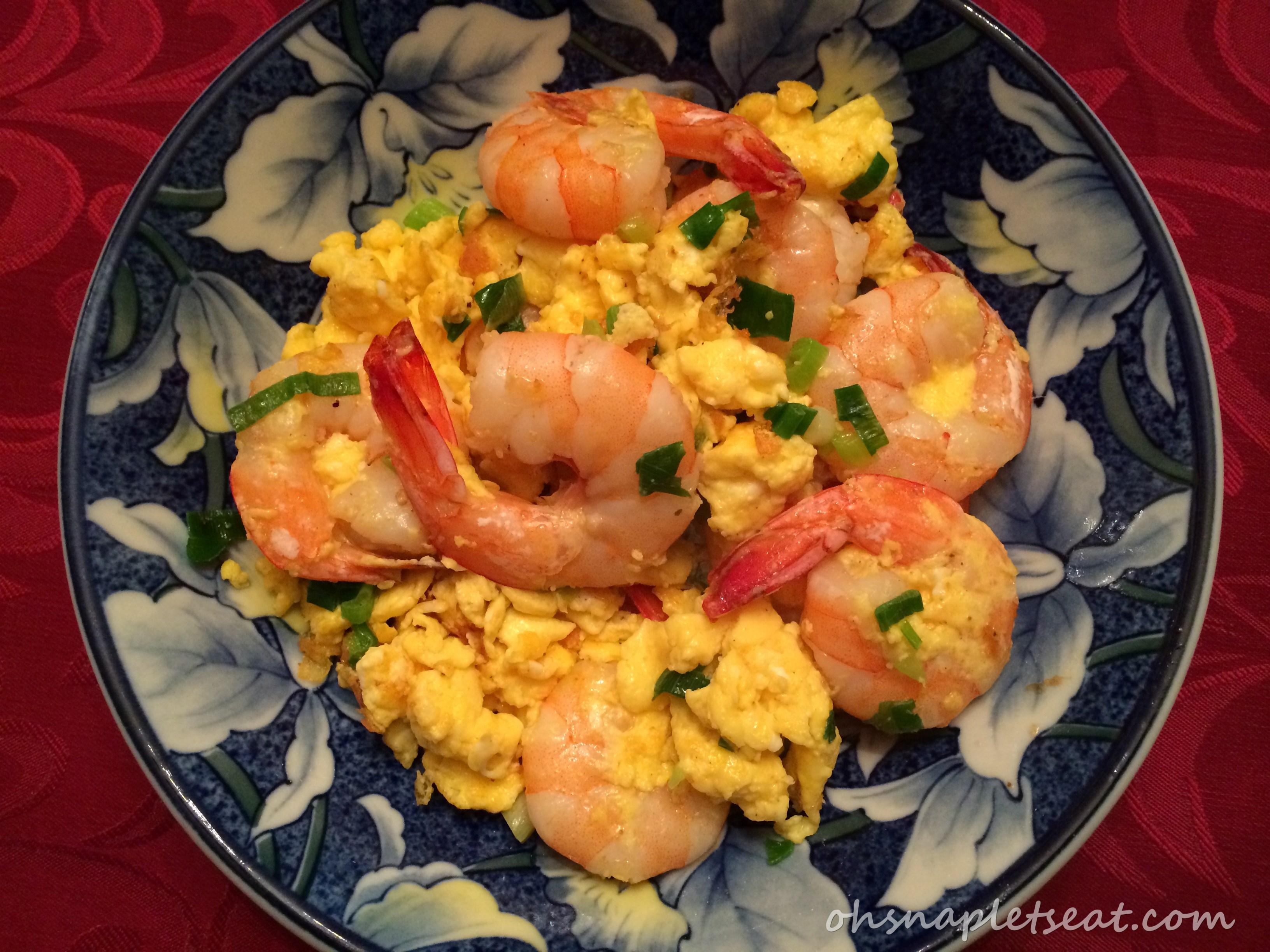 stir fry shrimp and eggs