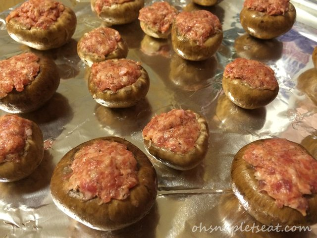 The Easiest Paleo Sausage Stuffed Mushrooms