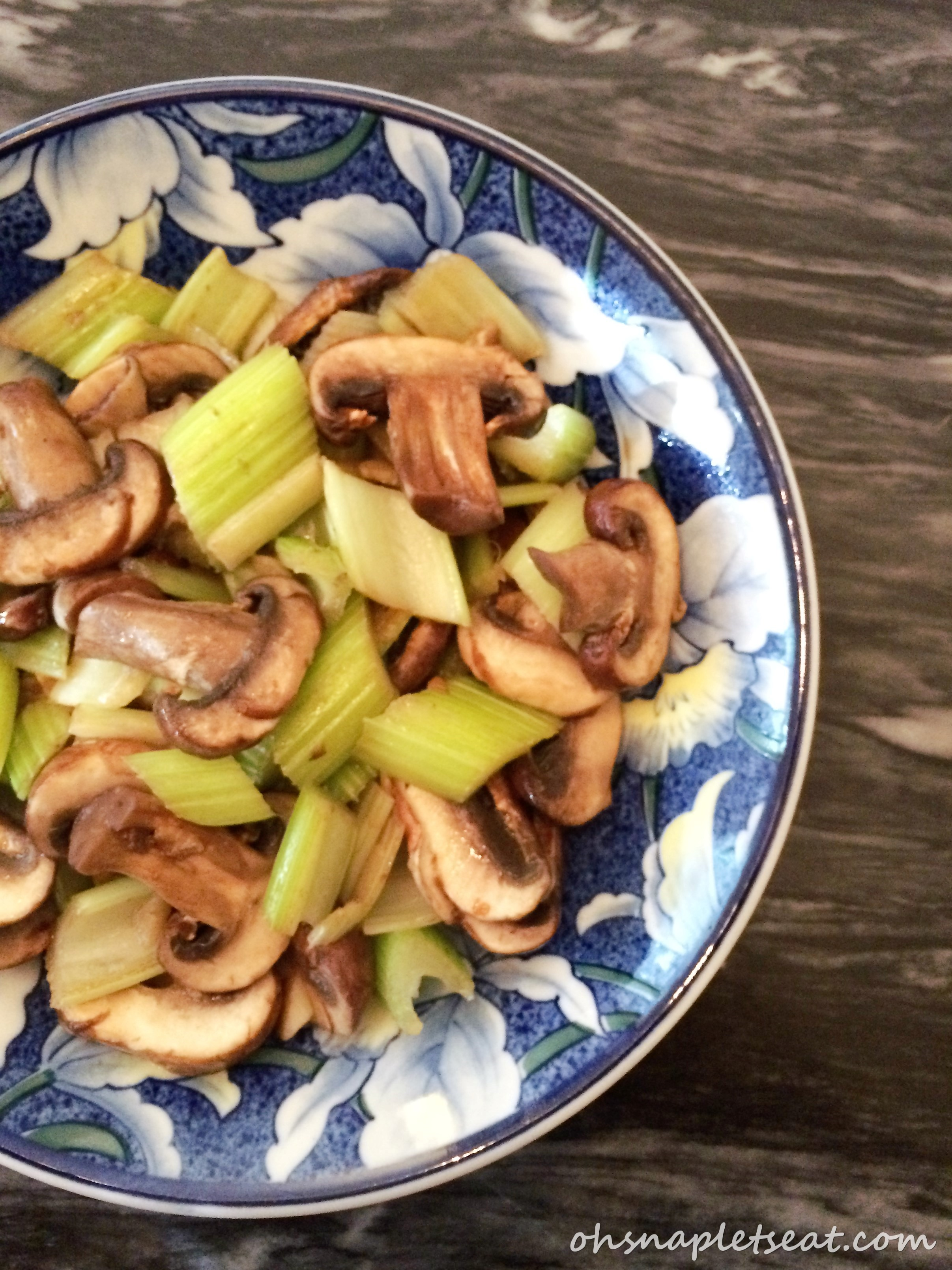 Simple Mushroom And Celery Stir Fry Paleo Gluten Free