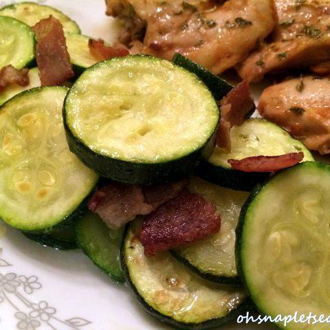 Zucchini and Bacon Stir Fry