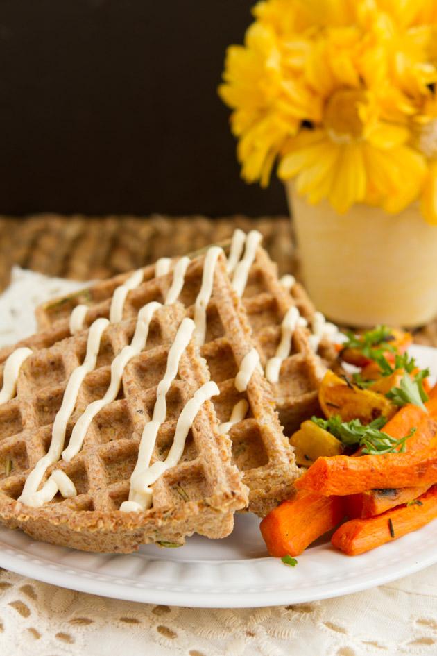 Crispy Flax Waffles