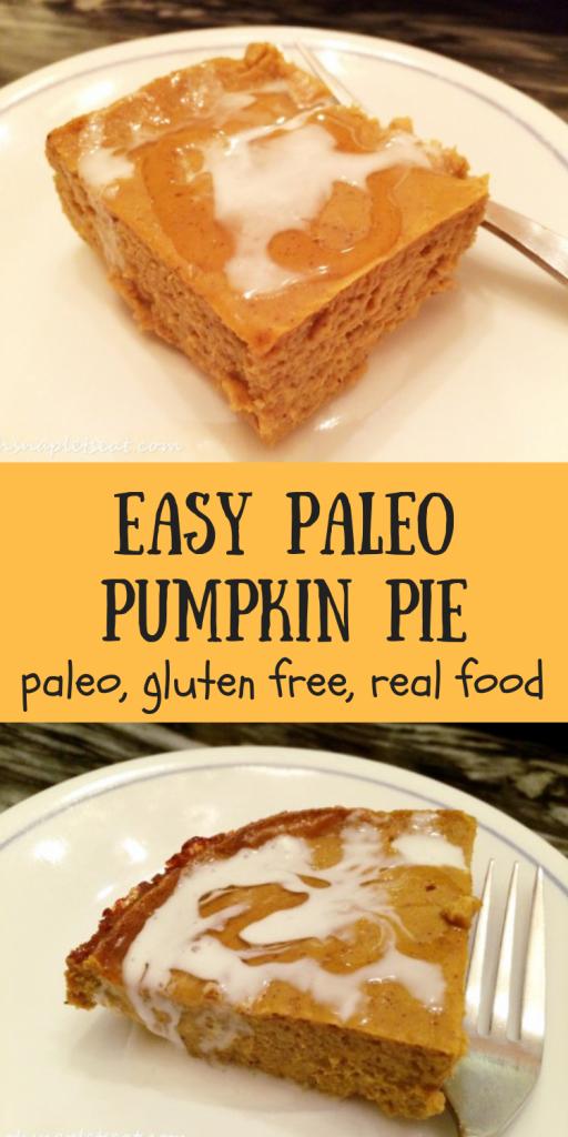 Paleo Crustless Pumpkin Pie