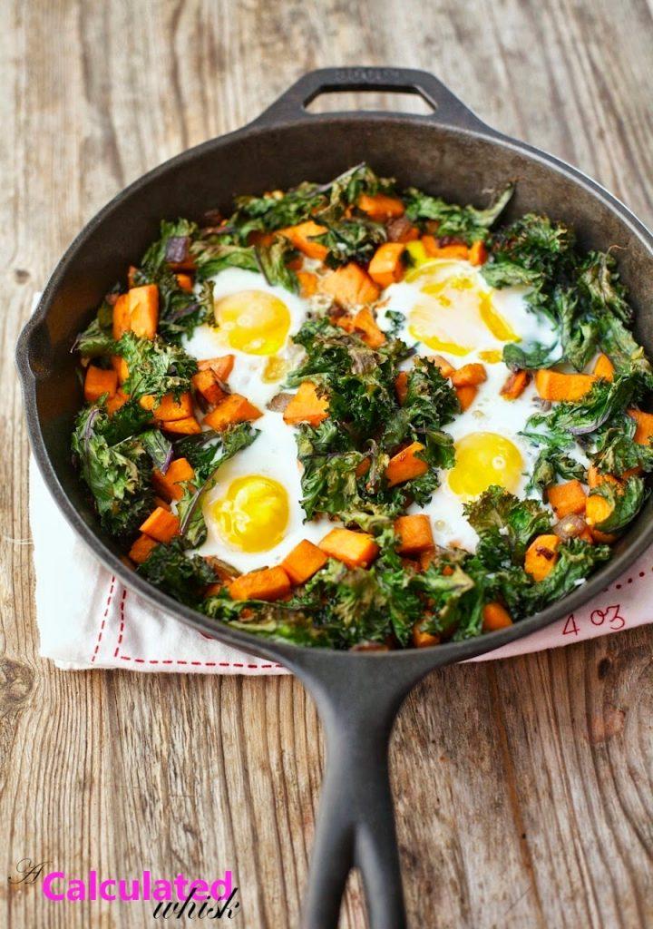 Sweet Potato & Crispy Kale Breakfast Skillet
