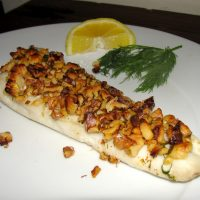 Paleo Roasted Haddock with Walnut Crust