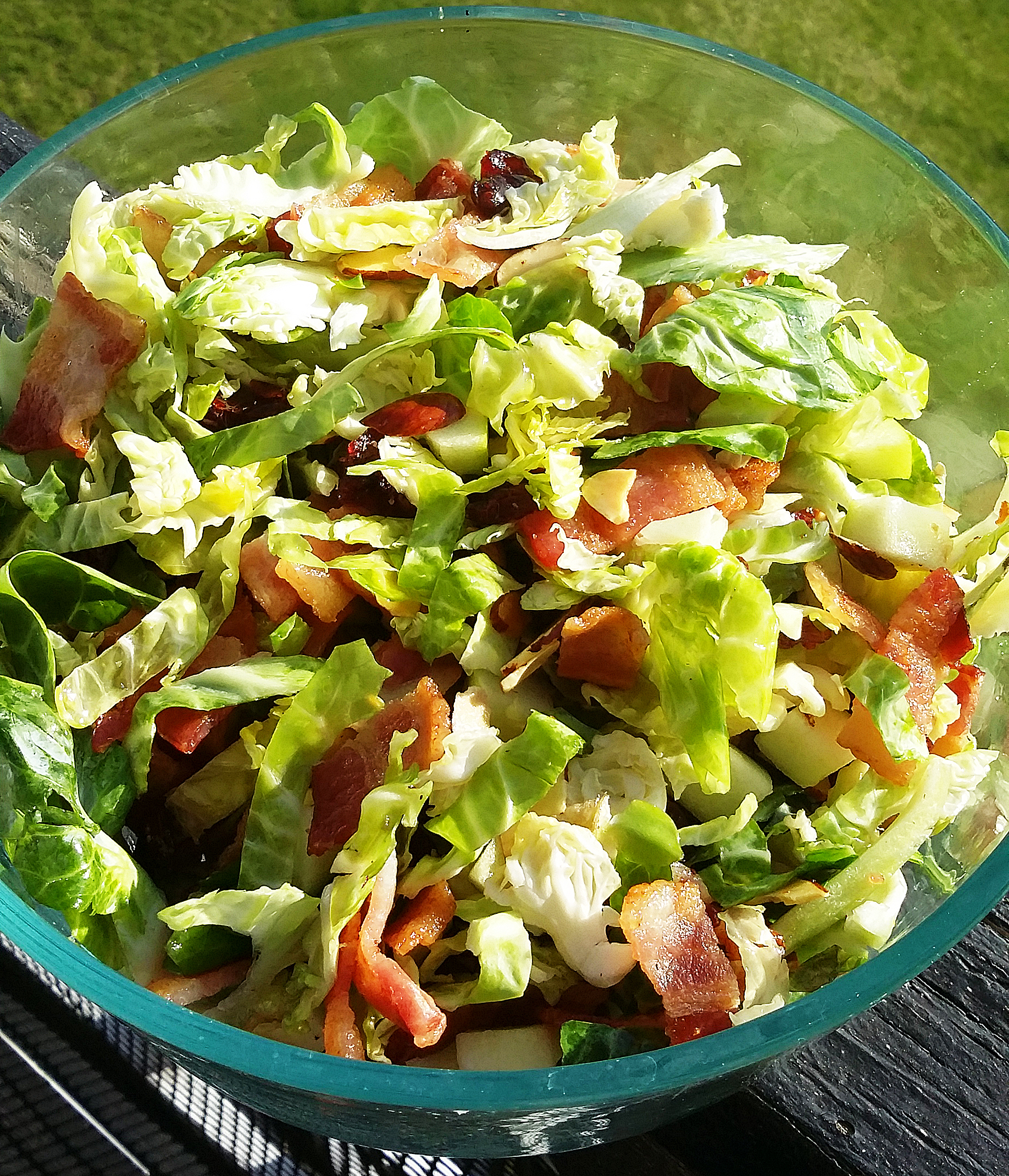 Mom's Shaved Brussels Sprout and Bacon Salad