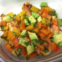 Cilantro Lime Chicken with Avocado Pepper Salsa