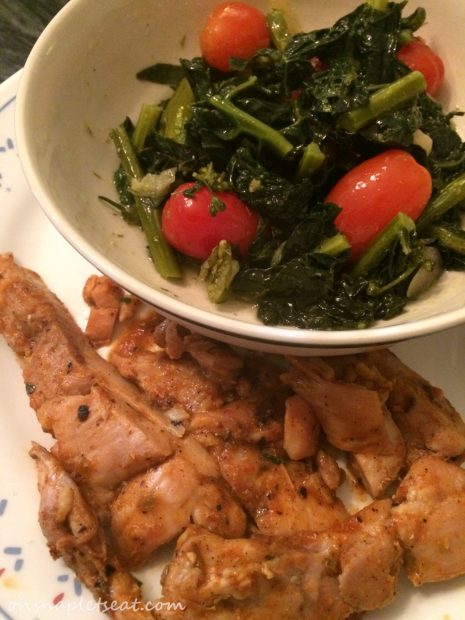 Chicken Rojas, Kale Salad