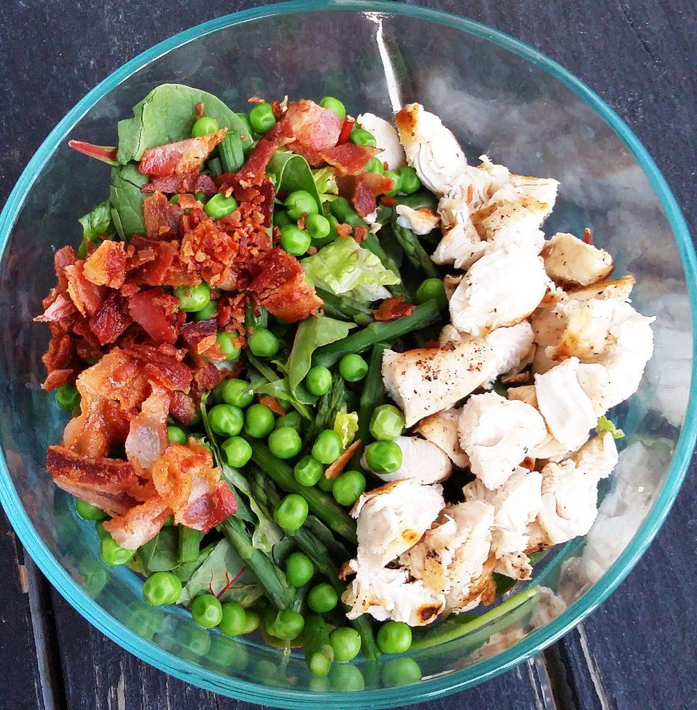 Gluten Free Chicken Carbonara Salad