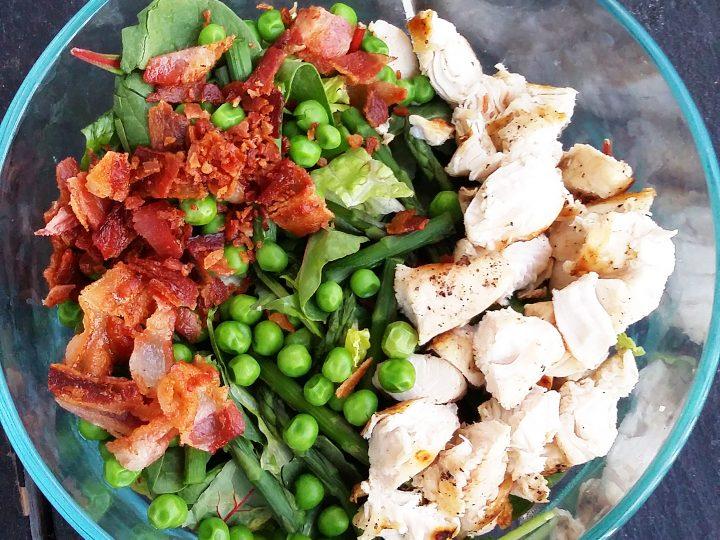 Chicken Carbonara Salad (Keto, Gluten Free)