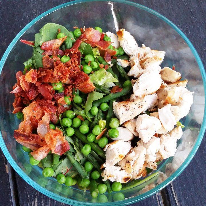 Chicken Carbonara Salad