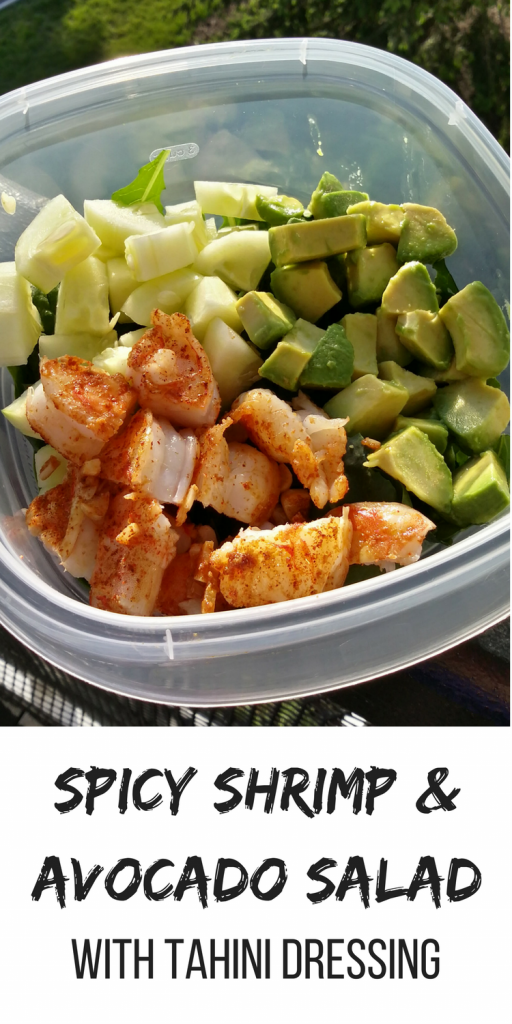 Spicy Shrimp and Avocado Salad with Tahini Dressing