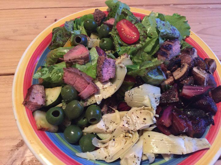 Paleo Grilled Steak Nicoise Salad