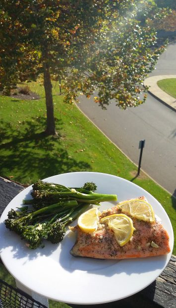 Oven Roasted Salmon and Broccolini