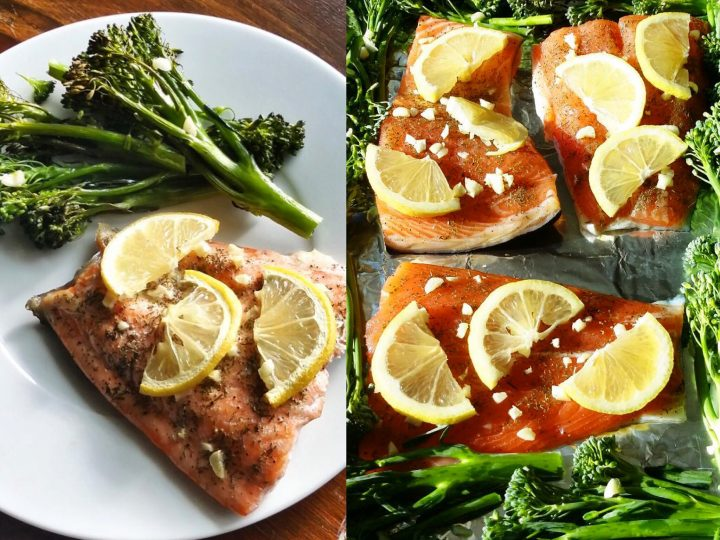 One-Pan Oven Roasted Salmon and Broccolini