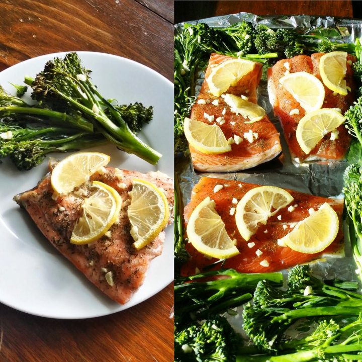 One-Pan Oven Roasted Salmon and Broccolini (Keto, Paleo, Whole30)