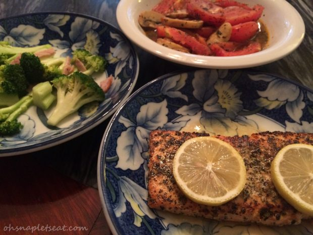 Salmon with Lemon and Basil