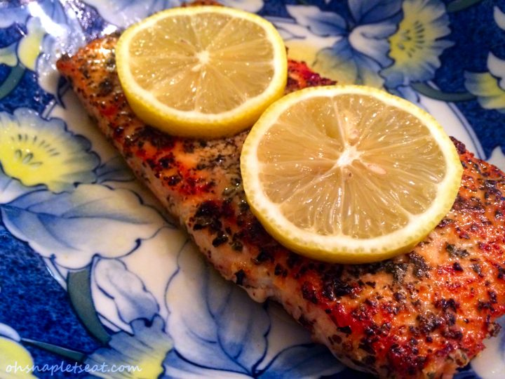 Pan Seared Lemon Basil Salmon