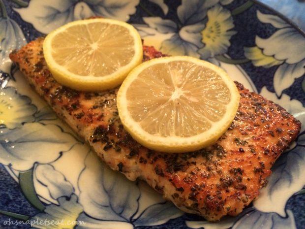 Easy Salmon with Lemon and Basil